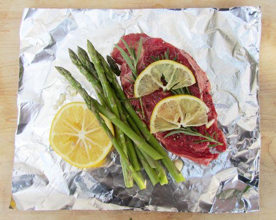 Lemon Herb Steak Foil Packet Summer Grilling Recipe - Popsicle Blog