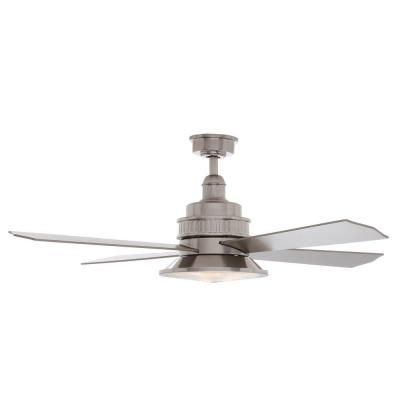 $219 Hampton Bay Valle Paraiso 52 in. Brushed Nickel Ceiling Fan-14035 - The Home Depot