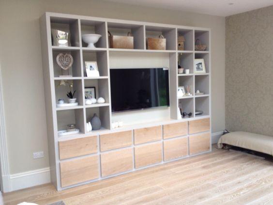 Beautiful TV cabinet by Scott Cunningham Interiors in Farnham, Surrey, UK.