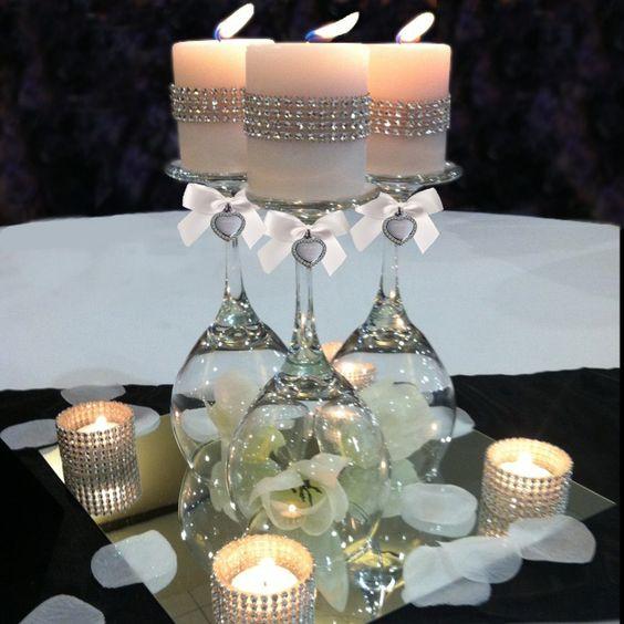 Glass Centerpieces, Wedding And Birthdays On Pinterest
