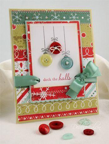 .love the button ornaments