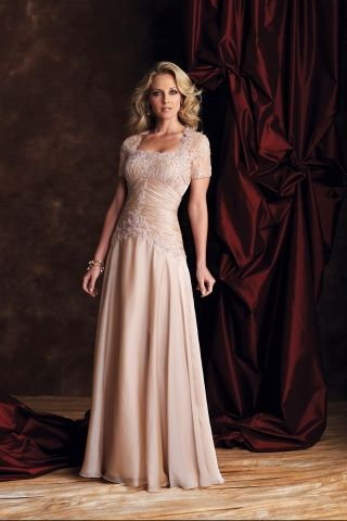 Luscious Two Piece Strapless A-line Mother of the Bride Dress ...