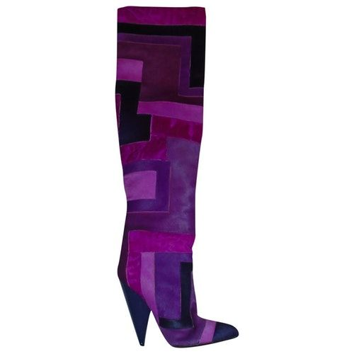 Purple Pony Style Calfskin Boots In 2020 Pony Style Tom Ford Calf Skin