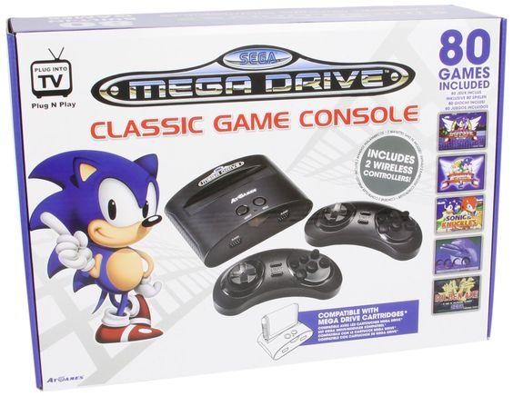 SEGA MEGA DRIVE CLASSIC  Nachbau des #Sega Mega Drive Systems inklusive 80 Spielen  Classic #Genesis with 80 games included  #retro #games #sega #classic