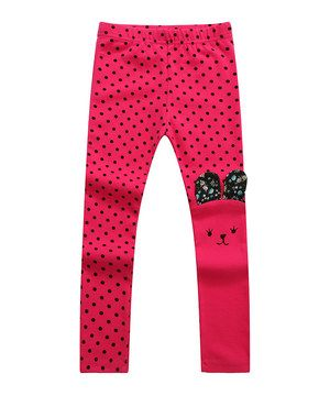 Another great find on #zulily! Fuchsia Polka Dot Bunny Leggings - Infant, Toddler & Girls by Richie House #zulilyfinds