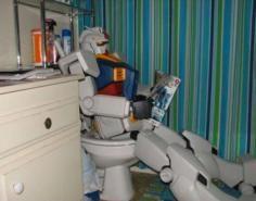 Gundam Using the Bathroom In This Picture: Photo of gundam pooping
