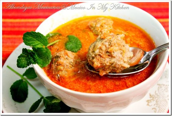 Meatball soup, Soups and Mexican meatball soup on Pinterest