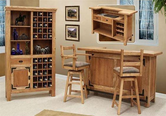 Muebles para un Bar dentro del Living Room – Sala de Estar  Decorar y Más  ...