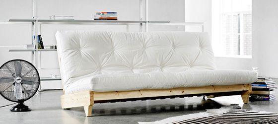 Black Futon Living Room Sofa