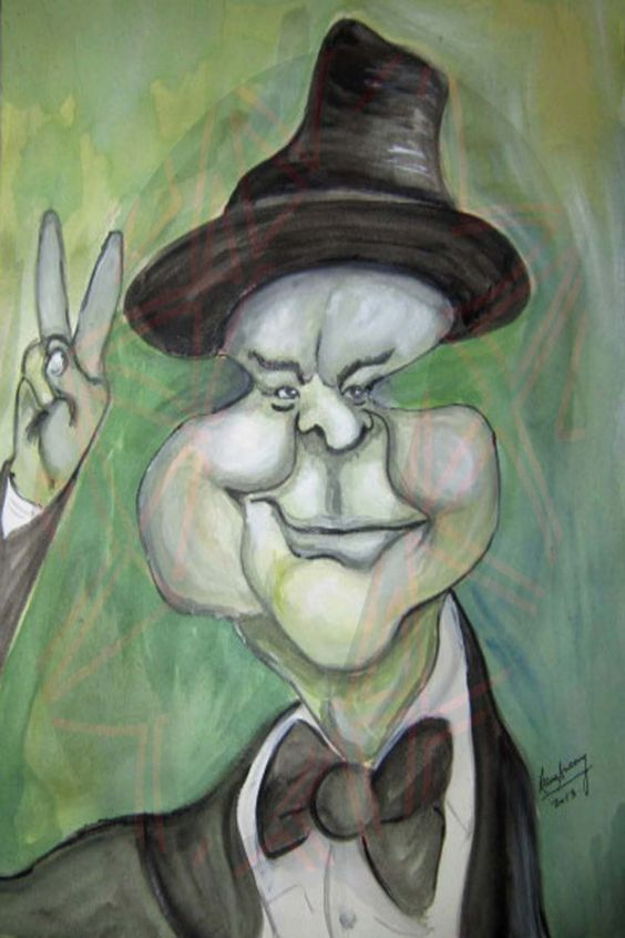 Caricature - Winston Churchill (Watercolours)