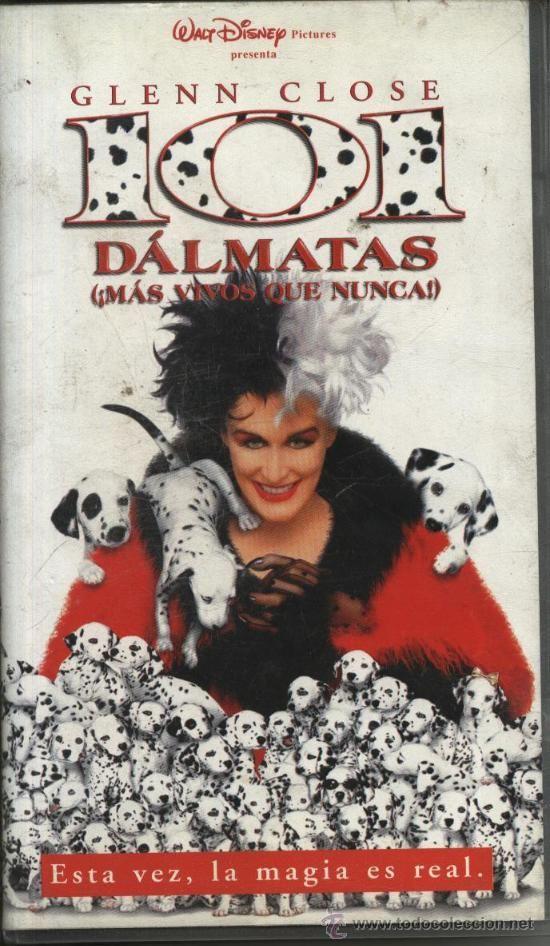 Cine Pelicula Infantil Glenn Close 101 Dalmatas Mas Vivos Que Nunca Video Vhs Glenn Close Filmes Da Disney Filmes