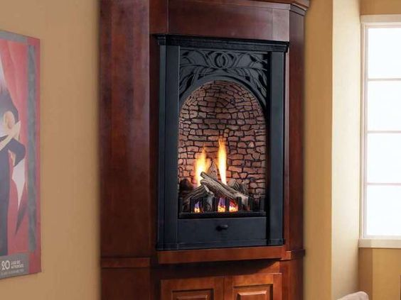 Fireplaces Corner Gas Fireplace And Gas Fireplaces On Pinterest
