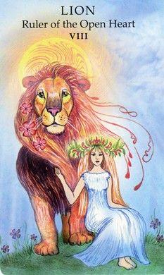 Lion: Ruler of the Open Heart (Strength) - Animal Wisdom Tarot