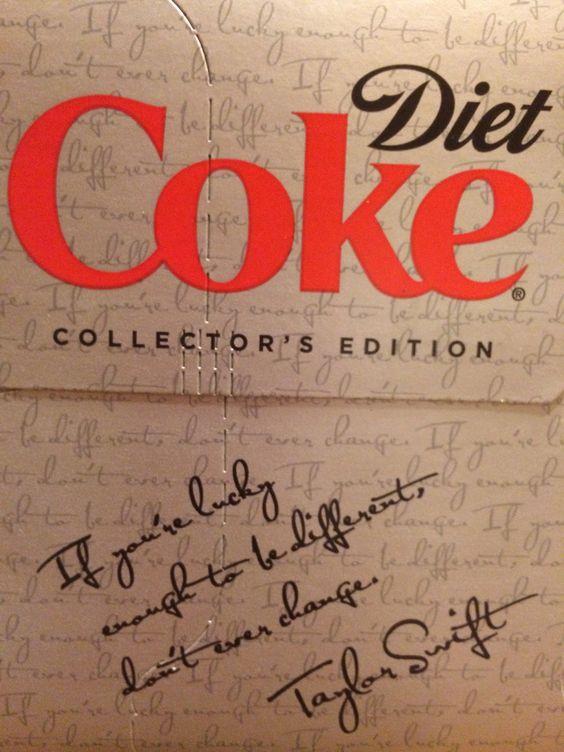 Taylor Swift Diet Coke Quote