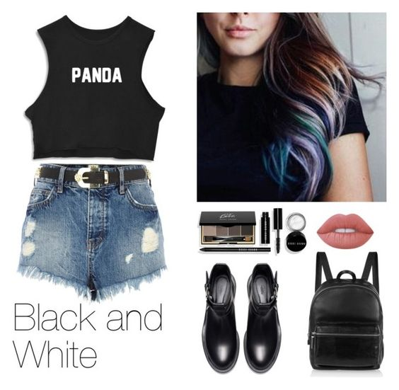 """#782"" by infinito01 ❤ liked on Polyvore featuring River Island, Zara, Bobbi Brown Cosmetics, Lime Crime and Elizabeth and James"