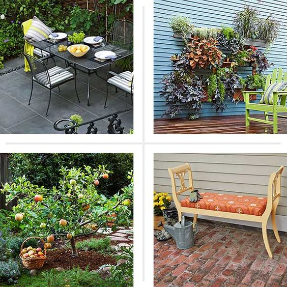 Small Backyards Outdoor Benches And Living Walls On Pinterest