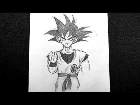How To Draw Goku Goku Pencil Drawing Easy Dragon Ball Z Drawing Pencil Art Youtube In 2020 Goku Drawing Pencil Drawings Easy Pencil Drawings