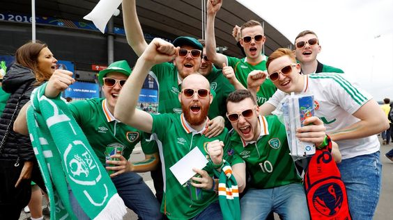 Ireland and Sweden fans show thugs how to party peacefully
