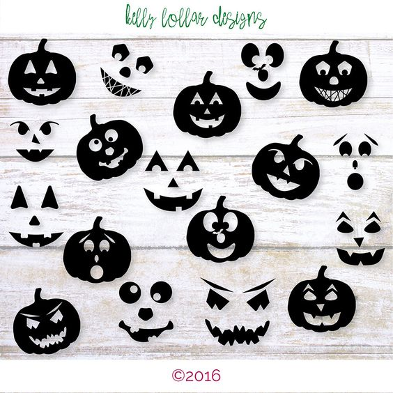 18 Jack O Lantern svgs | Pumpkin Faces | Pumpkin svg | Halloween Pumpkin…