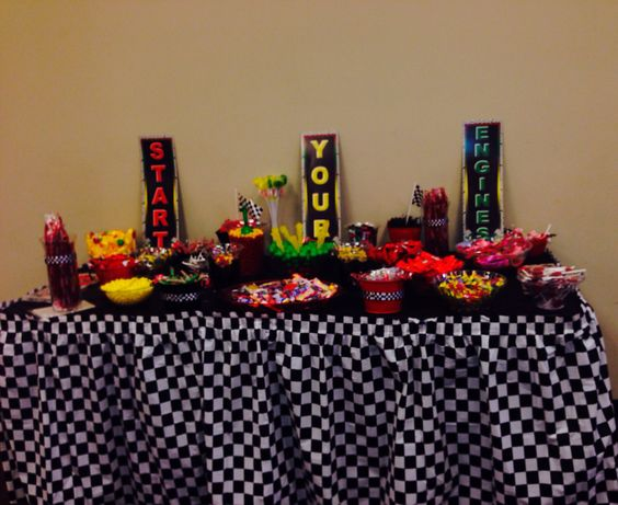 table showers candy car baby showers baby showers race cars tables