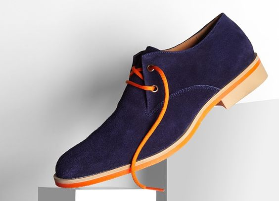 JD Fisk men's shoes - love a colored sole detail (well, this is more a statement than a detail!). These would be great for the Other Penguin