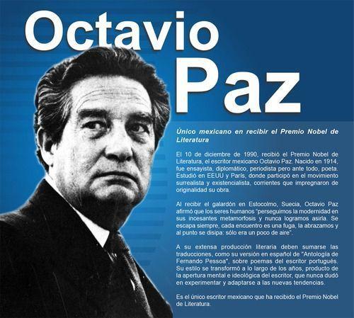 Octavio Paz Premio Nobel De Literatura 1990 El 10 De Diciembre De 1990 El Escritor Octavio Paz Recibió El Pr Premio Nobel De Literatura Literatura Escritores