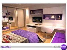 O modelo de armário utilizado em forma de nichos facilita a visualização de objetos mais usados no dia a dia