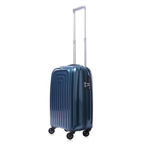 Lojel Wave Polycarbonate 19.5-Inch Upright Spinner Luggage, Blue, One Size (030159719133) shell body made of super polypropylene and is able to maintain its impact resistance even in low temperatures Pull handle has single-button 2-position telescope stages; designed ergonomically for easy steering Arms are made of aircraft-grade aluminum Contour-Cut Profiles - Robotic-CNC-precision-cut contoured shells allow handle to be positioned closer to the middle, offering optimal weight ...