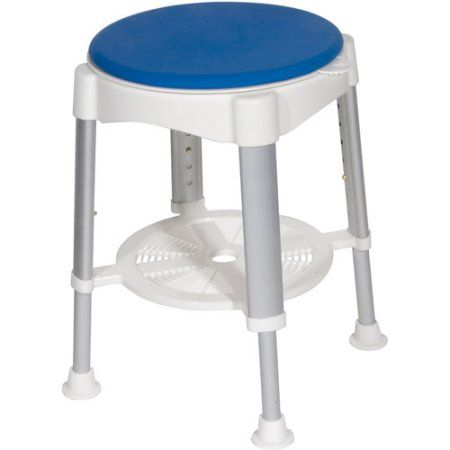 Drive Medical Bath Stool with Padded Rotating Seat, Multicolor