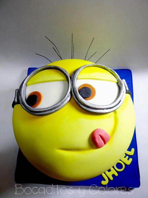 Kevin the minion cake - Taarten  Pinterest - Taarten, Minion taarten ...