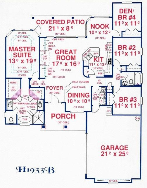 House Plan 4766 00122 Ranch Plan 1 933 Square Feet 4