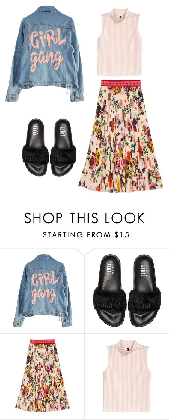 """Ri"" by loreninha1 ❤ liked on Polyvore featuring High Heels Suicide, Puma and Gucci"