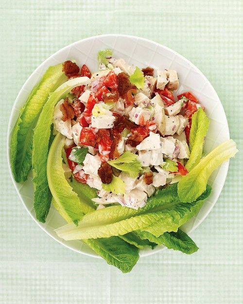 This chicken club salad is a deconstructed version of the popular sandwich.