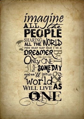 Revelation 21:3-5 - IMAGINE by John Lennon will become a REALITY...for God is a God of JUSTICE & LOVE !! I'm so anticipating the new order.