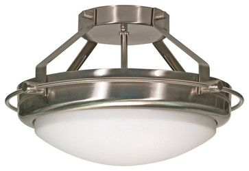 Nuvo Lighting 60/609 Brushed Nickel Polaris Two Light Down Lighting - contemporary - ceiling lighting - Build.com
