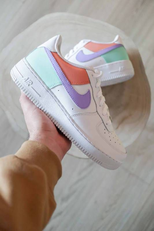 Crepped Color Block Air Forces Nike Af1 Customs Crepped Sneakers In 2020 Nike Shoes Air Force Nike Air Shoes Air Force One Shoes
