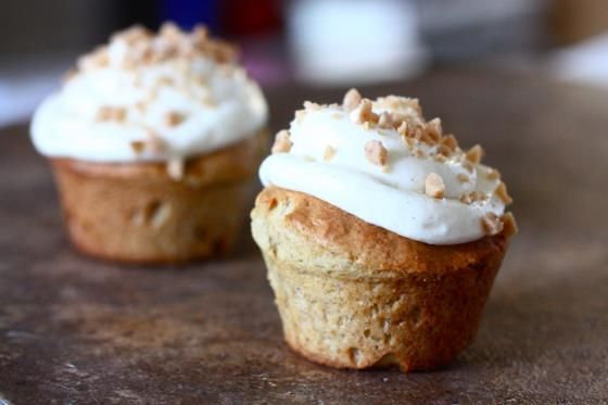 Banana Bread Cupcakes with Cream Cheese Frosting (my favorite cupcake!)