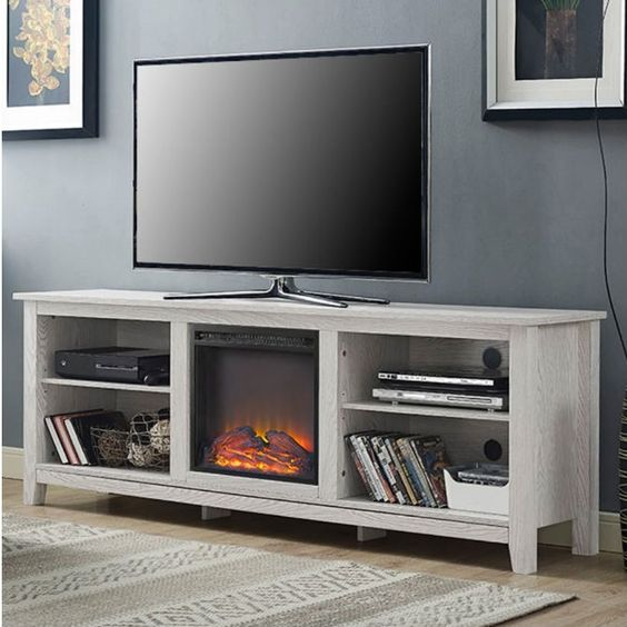 white wash wood 70 inch tv stand fireplace space heater products 70 inch tv stand and tv stands. Black Bedroom Furniture Sets. Home Design Ideas