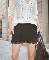 Solid Black Lace Mini Base Skirt $33.00