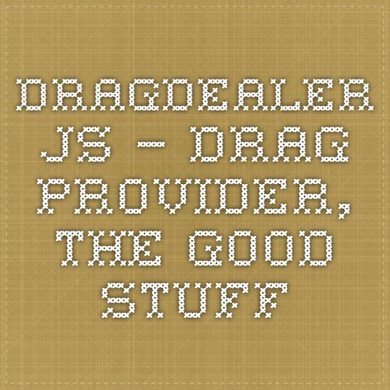 Dragdealer.js – drag provider, the good stuff