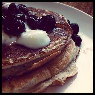 Blueberry Greek Yoghurt Pancakes