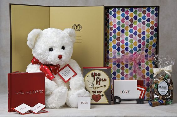 "15% OFF THRU 12/15/2014!    (enter code 1215 at checkout for discount) Elegant & Romantic, Fuzz Therapy's ""With Love"" gift set makes a perfect Christmas Gift! Arriving in beautiful, custom keepsake boxes, our teddy bear gift sets provide simple, elegant and thoughtful solutions for all your gift giving needs."
