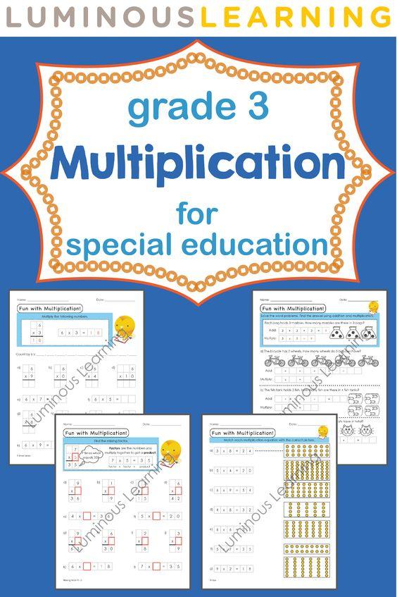 Grade 3 Multiplication Workbook: Making Math Visual   Pinterest ...