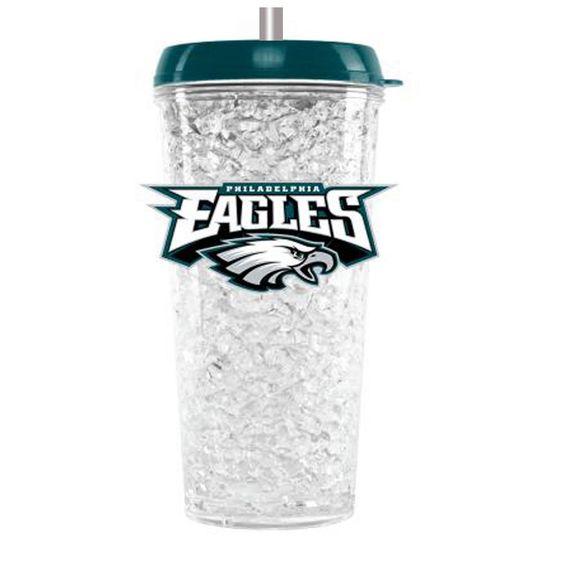 Duckhouse Crystal Tumbler With Straw - Philadelphia Eagles