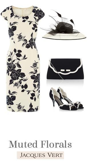 New In Jacques Vert Mother of the Bride Outfits in cream and black   Muted Florals for 2015