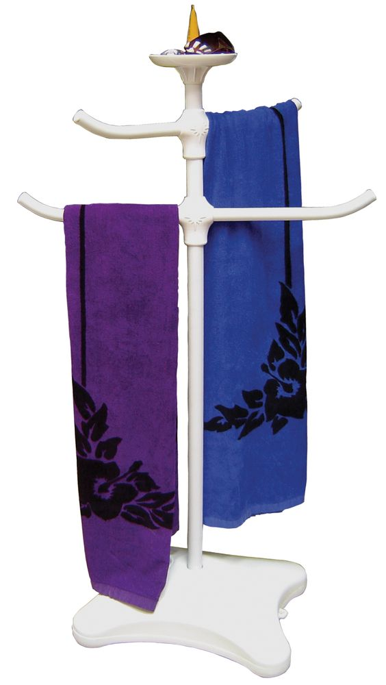 Towel Tree Poolside Valet Attractive And Versatile Valet Holds Towels Robes And More Top Tray Is Perfect For Pool Accessories Suntan Lotion Accessories