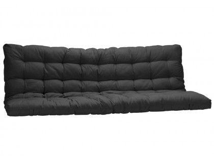 Lit Mezzanine Modulo Iv 90x190cm Avec Banquette Convertible Noir Et Rouge Matelas Futon Futon Matelas
