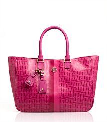 Roslyn Stripe Tote.......hot pink for summer
