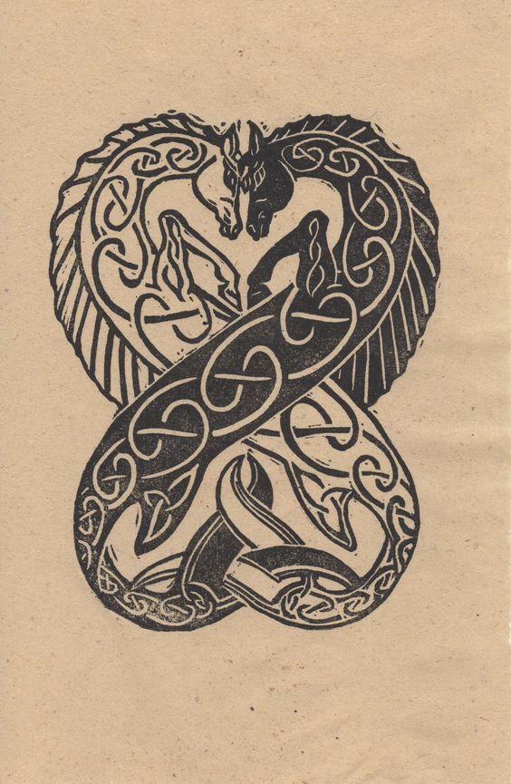 celtic seahorse tattoo