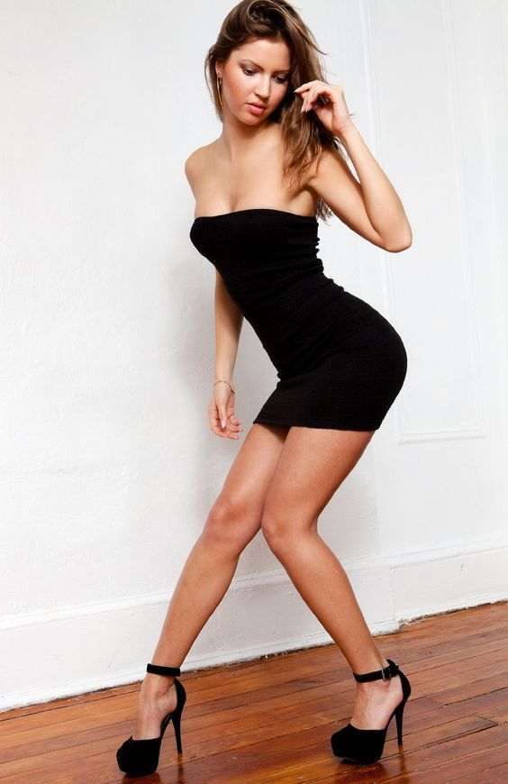 Little Black Sexy Tube Top Dress by KD dance- Fashionable Evening ...